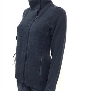 Lululemon Navy Fleece Be True Quilted Moro Jacket